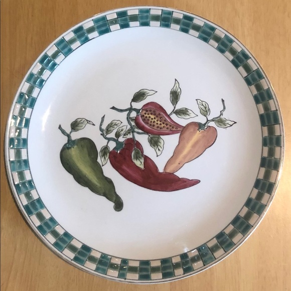Plate Decorative with Peppers kitchen living room